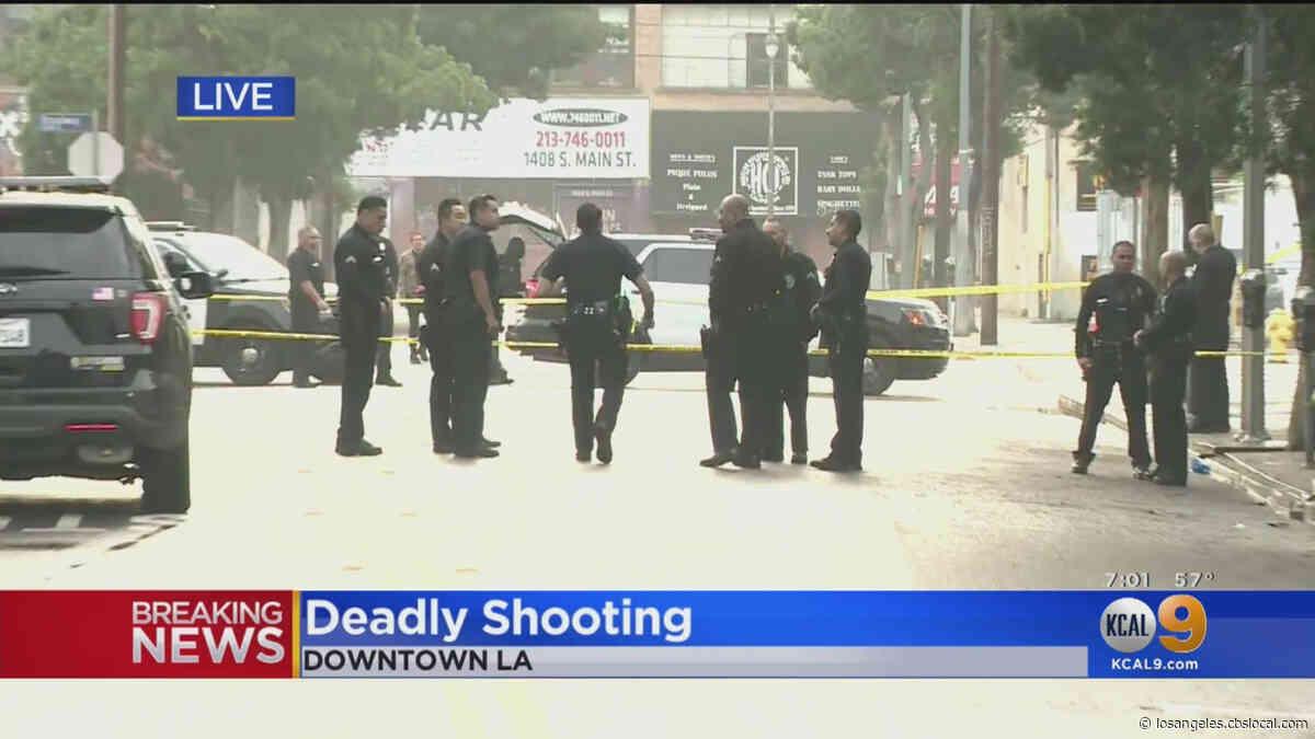 1 Person Shot Dead Along S. Hill Street In Downtown LA