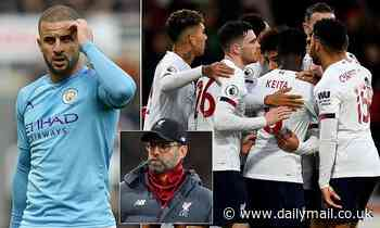 Kyle Walker refuses to give up on title hopes despite Man City falling 14 POINTS behind Liverpool