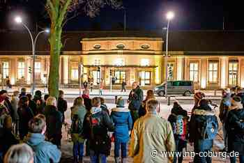 Coburger Bahnhof wird illuminiert
