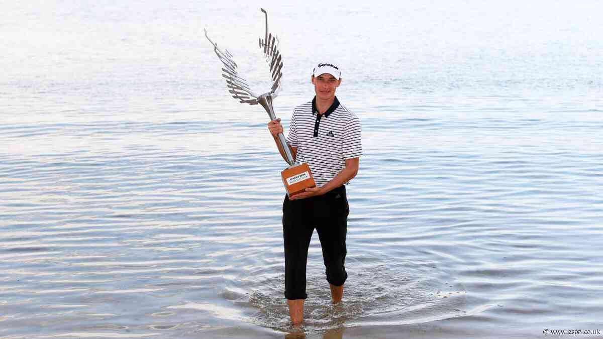Hojgaard, 18, takes Mauritius Open title in playoff