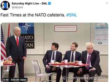 SNL skewers Trudeau's mockery of Trump in high school cafeteria sketch