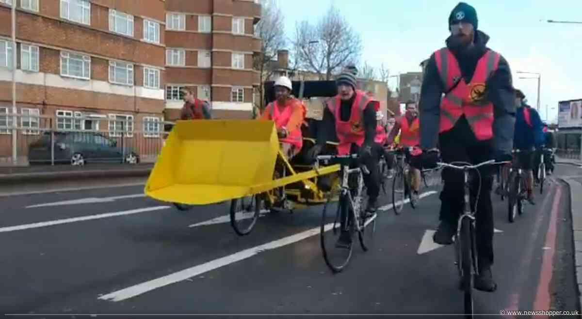 'Serious disruption': Extinction Rebellion block roads on way to mass 'lie-in' at Heathrow