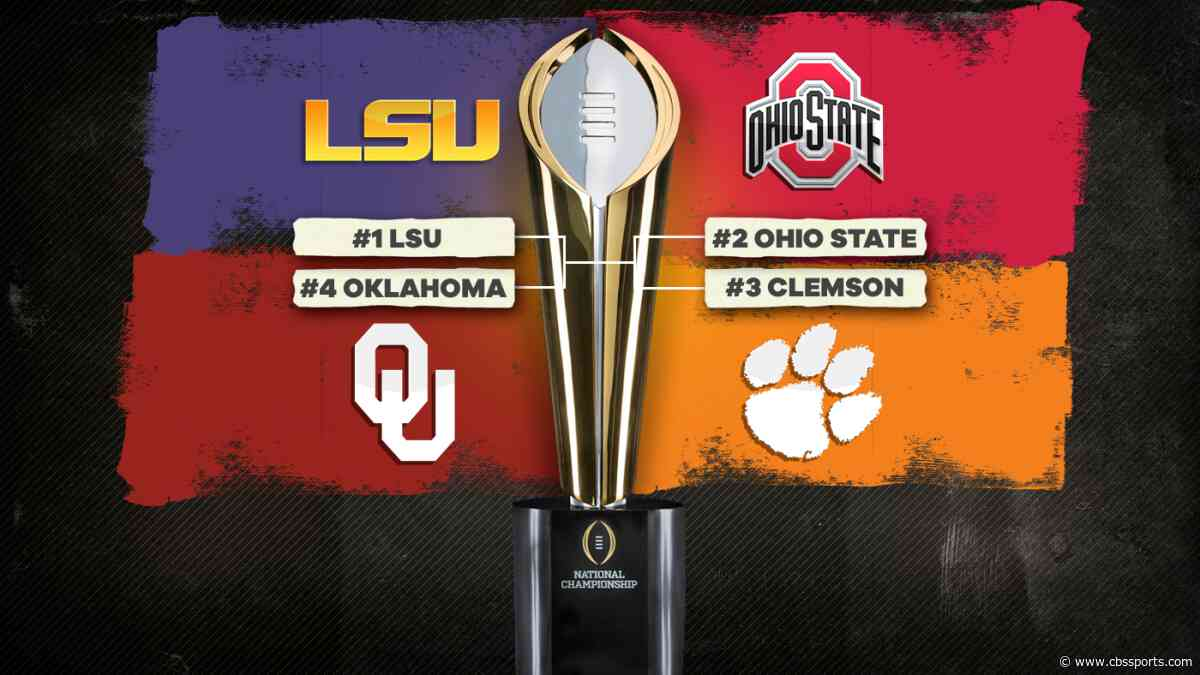 2019 College Football Playoff bowl games: LSU jumps Ohio State for No. 1, Clemson and Oklahoma in