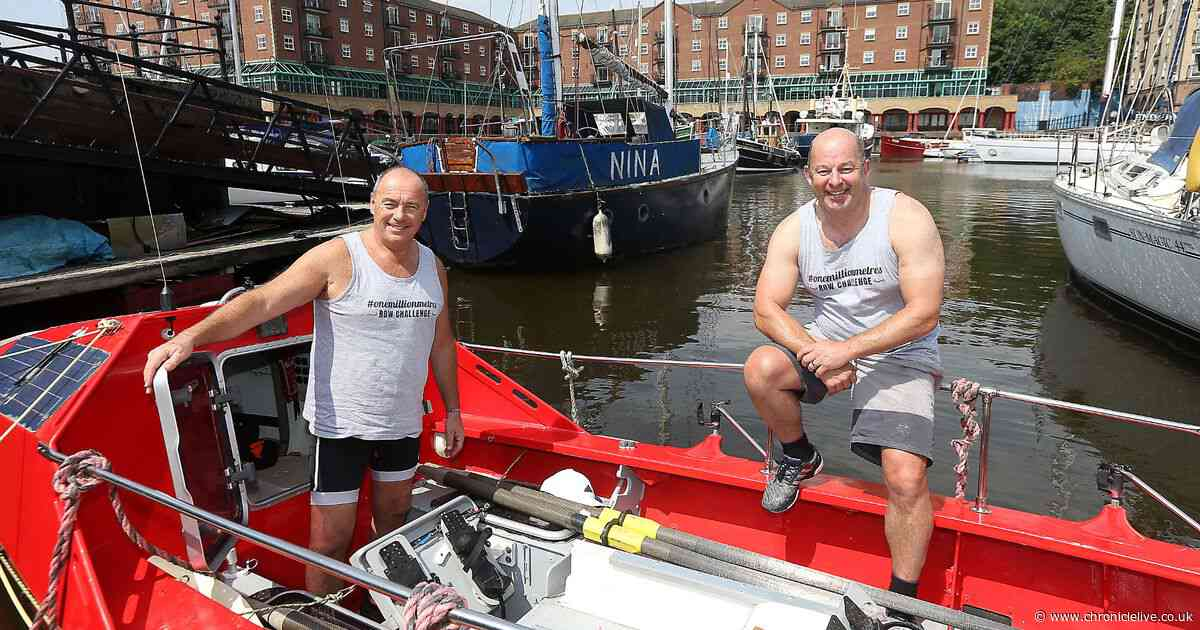 Two North East men who will be rowing 3,000 miles across the Atlantic in just 60 days