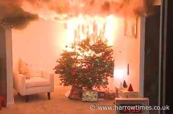 Warning that your Christmas tree could spark a house fire