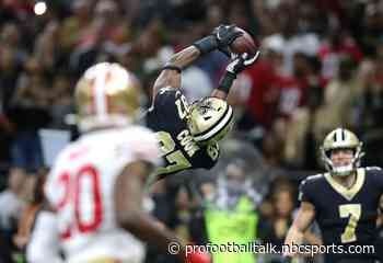 Saints lead 49ers 20-14 in back-and-forth battle