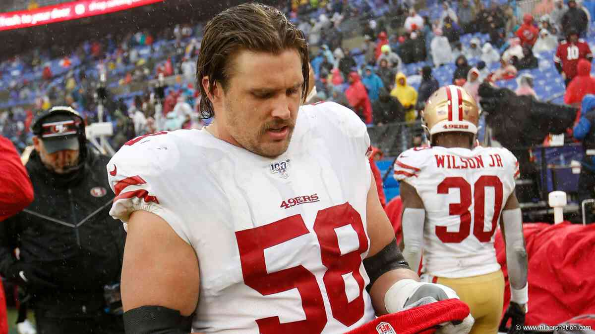 Weston Richburg carted off the field