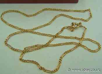 """A Good Figaro Link """"French"""" 18ct - (750 Grade) -  Gold Necklace / Chain."""