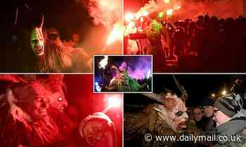 Gangs of marauding 'Krampus' Christmas devils are accused of string of attacks across Austria
