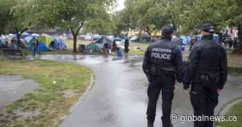 'A million dollars so far': Oppenheimer Park camp sees rising city costs, 53% spike in police calls
