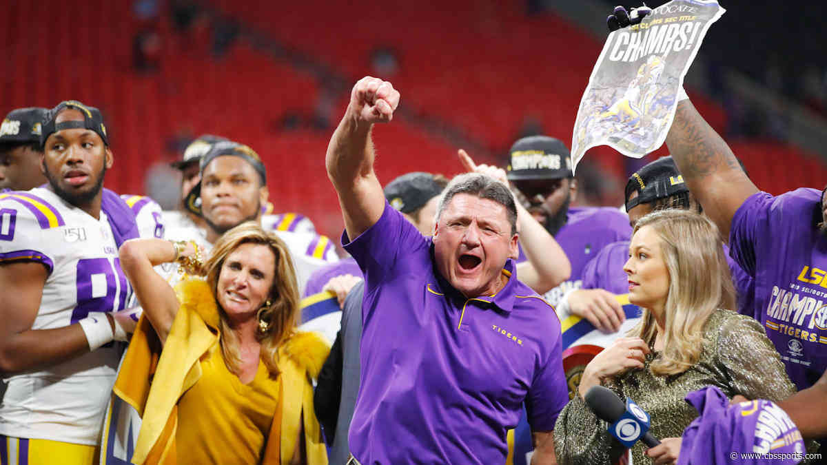 Landing No. 1 seed drastically improves LSU's College Football Playoff title chances, projection model shows
