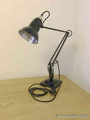 1950's Vintage Industrial Herbert Terry Anglepoise 1227 Desk Lamp In Black