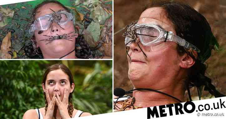 I'm A Celebrity Get Me Out Of Here star Jacqueline Jossa squirms as she holds huge spider in her mouth in bid to win final