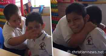 Video Of Boy With Down Syndrome Comforting Classmate With Autism Goes Viral