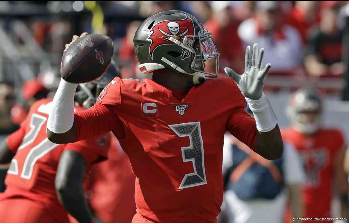 "Jameis Winston has ""slight crack"" in thumb; Mike Evans hamstring ""not good"""