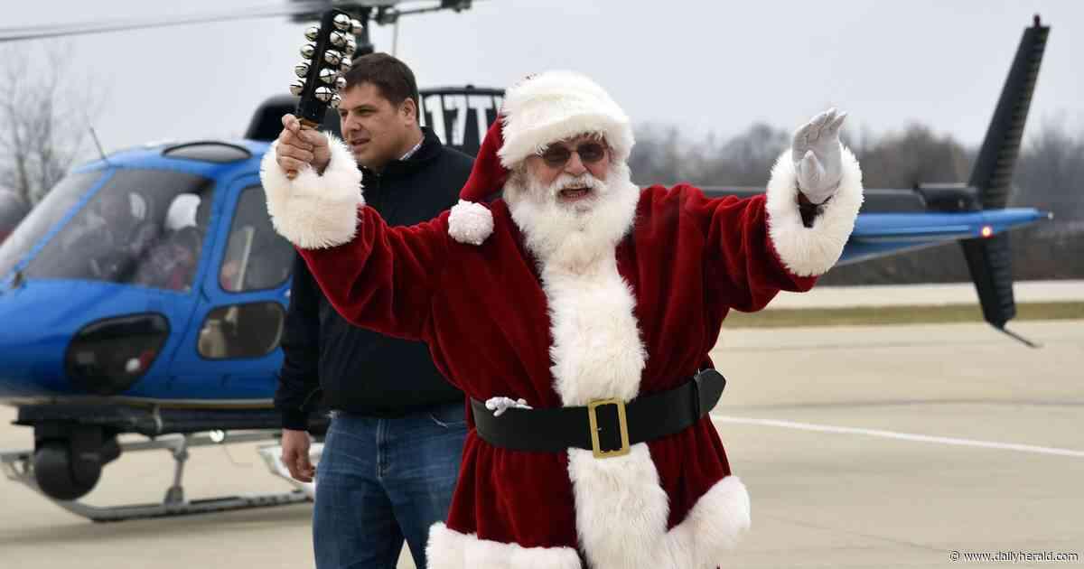 Santa gives reindeer a rest for trip to Schaumburg