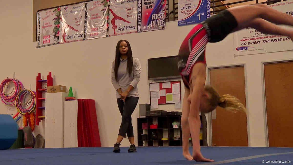 Olympic Gold Medalist Gabby Douglas Stops by Frisco Gym