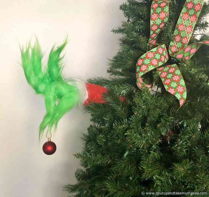Grinch Arm Christmas Tree Ornament