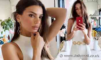 Emily Ratajkowski flaunts fab figure in white bodysuit at her first ever Inamorata Woman NYC event