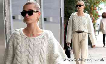 Hailey Bieber flaunts her chic casual style as she treats herself to a pampering session in LA