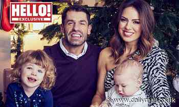 Kelvin Fletcher appears alongside his family in a adorable Christmas snap