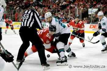 Bobrovsky stops 30 shots, Panthers beat Sharks 5-1