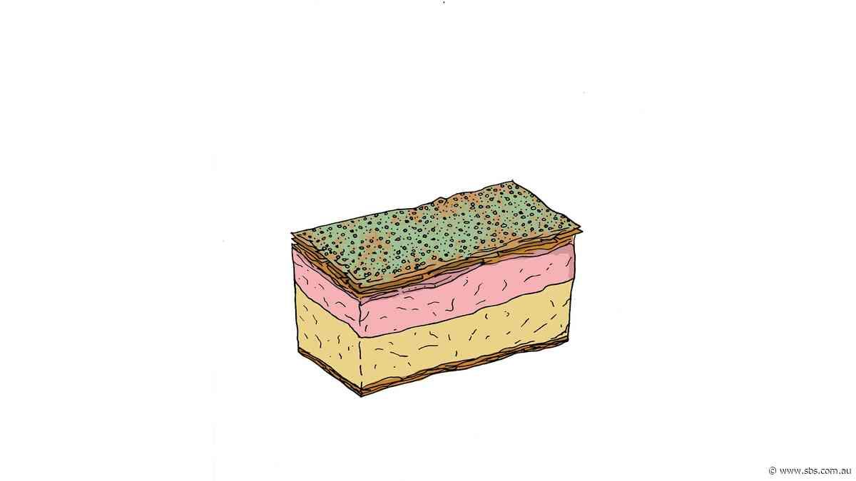 Pomegranate and pistachio vanilla slice