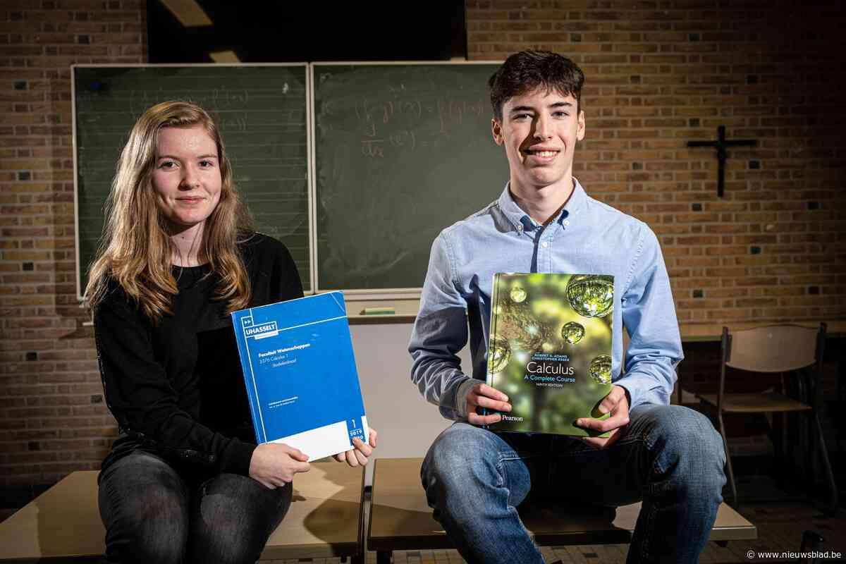 Studenten (17) uit secundair onderwijs slagen met glans voor examen aan UHasselt