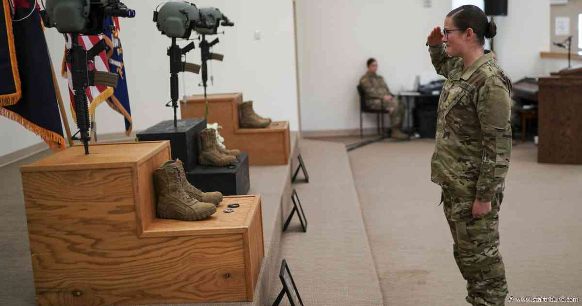 Minnesota Guard members honor three who died in copter crash with mournful roll call