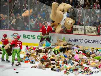 8,938 take in Teddy Bear Toss game as Giants stuff Tri-City Americans 4-1