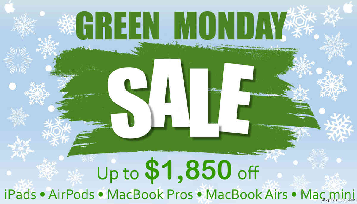 Apple Green Monday deals are live: Save up to $1,850 on new Macs, Apple Watches, iPads, AirPods & more
