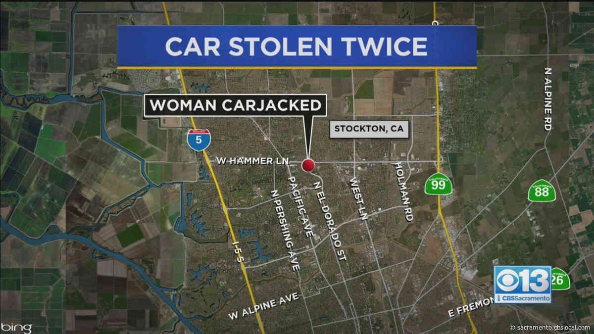 Woman's Car Stolen Twice In Stockton