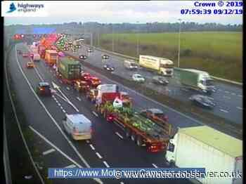 Morning update: Crash on M25 causing delays