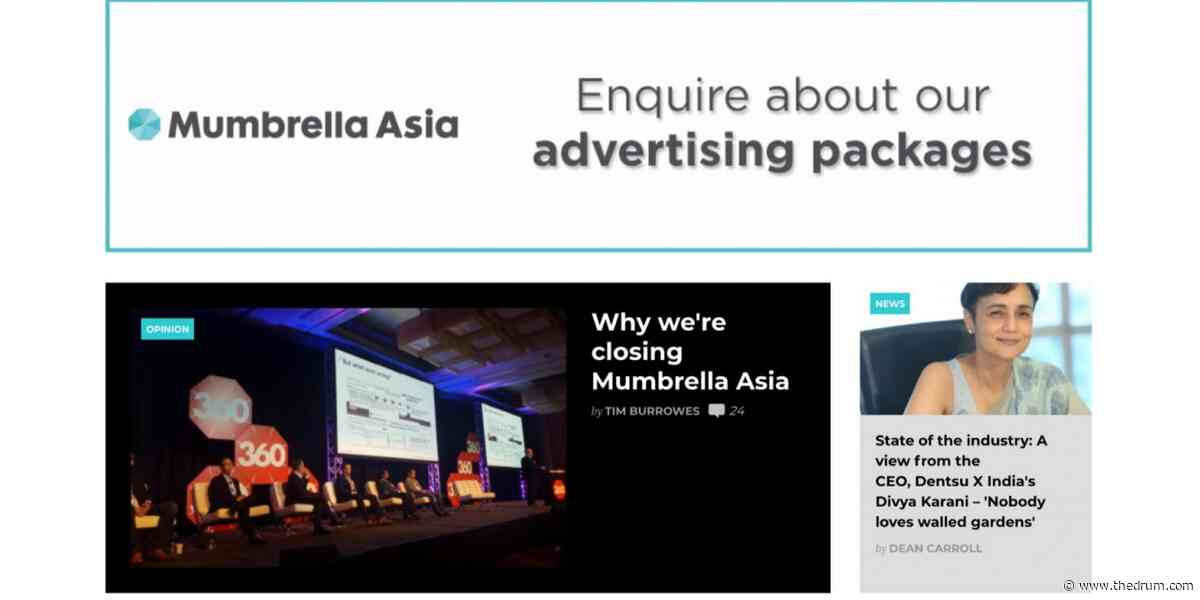 Mumbrella Asia shutters operation in Singapore after six and a half years