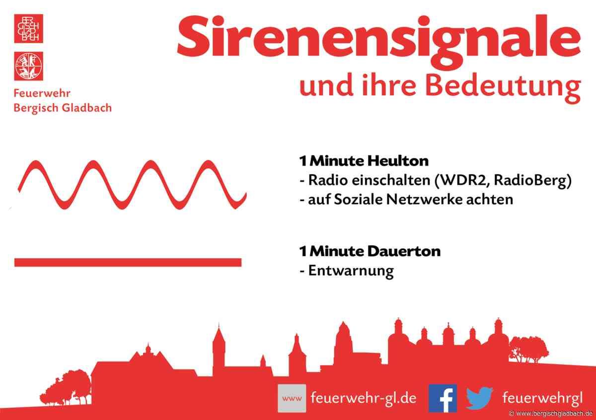 Resumee zur ersten Sirenenprobe der Stadt Bergisch Gladbach
