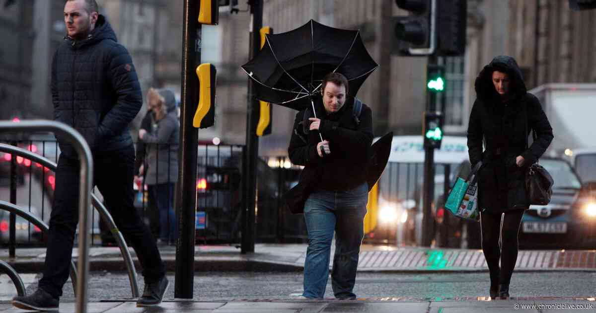 Weather warning issued as strong winds of up to 70mph set to batter the North East
