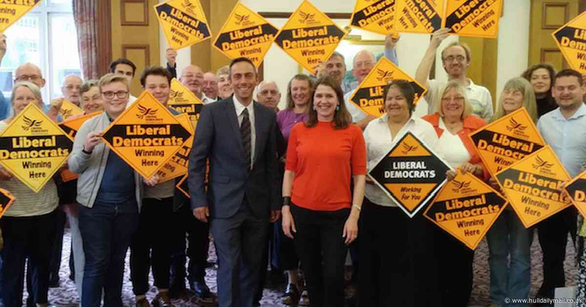 Lib Dem candidate in Hull is out campaigning 300 miles away
