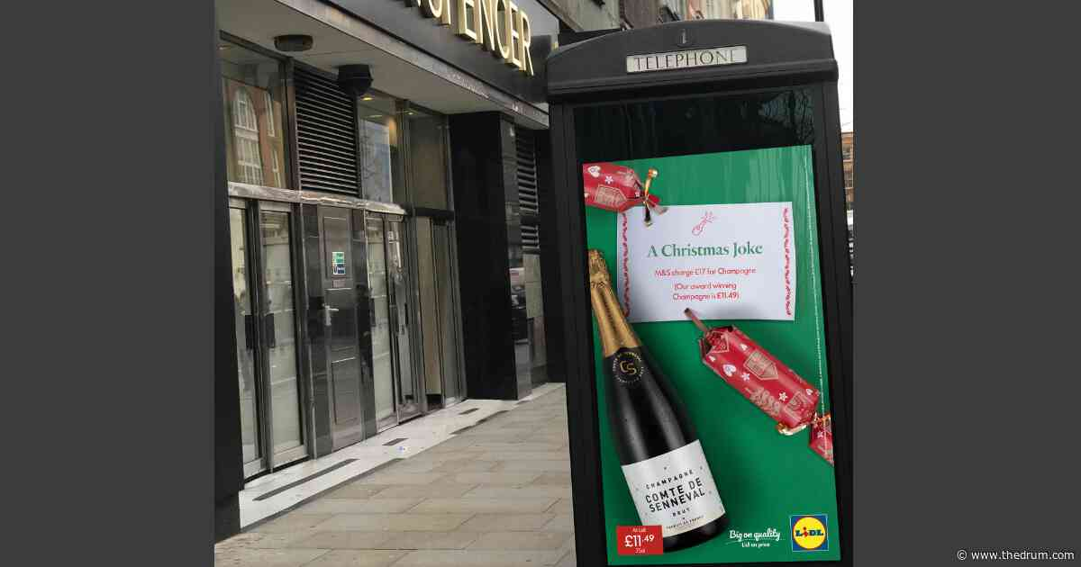 Karmarama and Lidl pull a Christmas cracker in latest OOH campaign