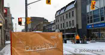 London to mark completion of Dundas Place with bricklaying ceremony