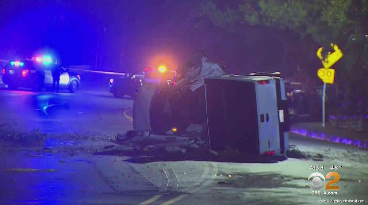 Overnight Truck Crash Shuts Down Both Directions Of Laurel Canyon In Studio City