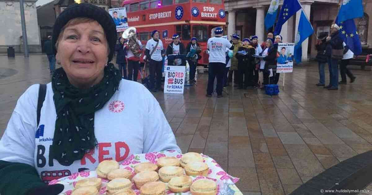 Anti-Brexit battle bus dishes out free mince pies and jingles - but Hull is far from impressed