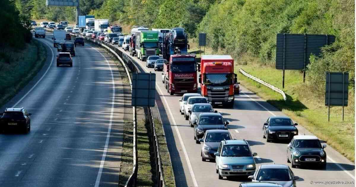 Bottleneck forms on A19 after two-vehicle crash near Billingham closes lane