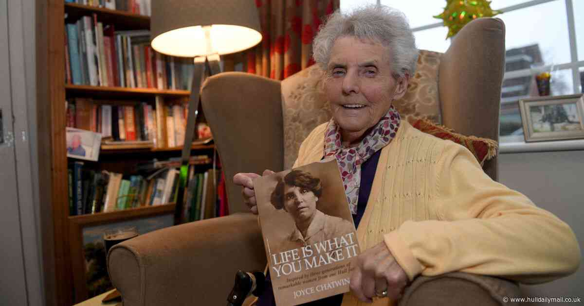 Great-gran lifts lid on three generations of Hessle Roaders after writing first book aged 91