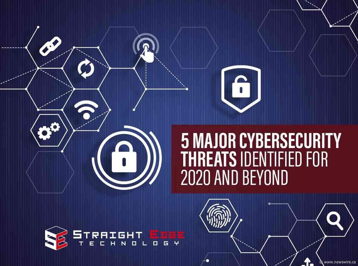5 Major Cybersecurity Threats for 2020 Identified in Straight Edge Technology Report