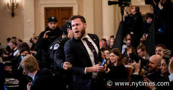 Infowars Host Disrupts House Impeachment Hearing