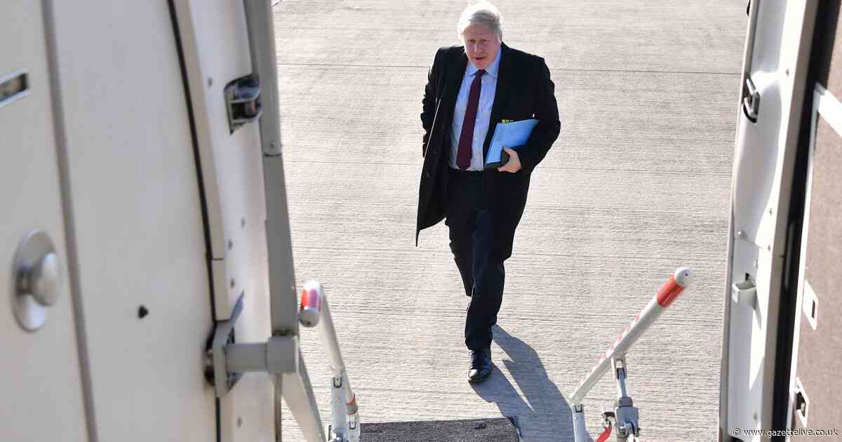 Outrage as Boris Johnson takes 25-minute private jet flight to Teesside Airport