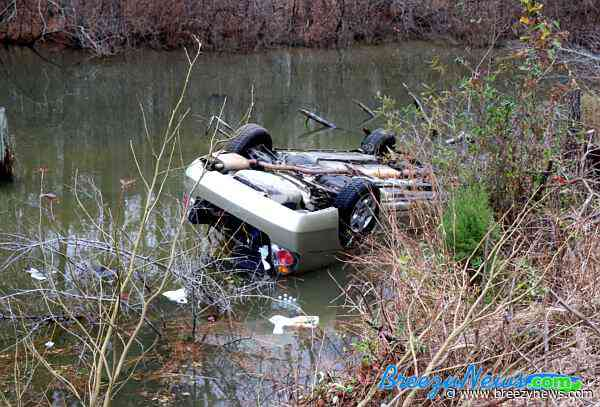 Car Submerged in Lake After MVA Rollover