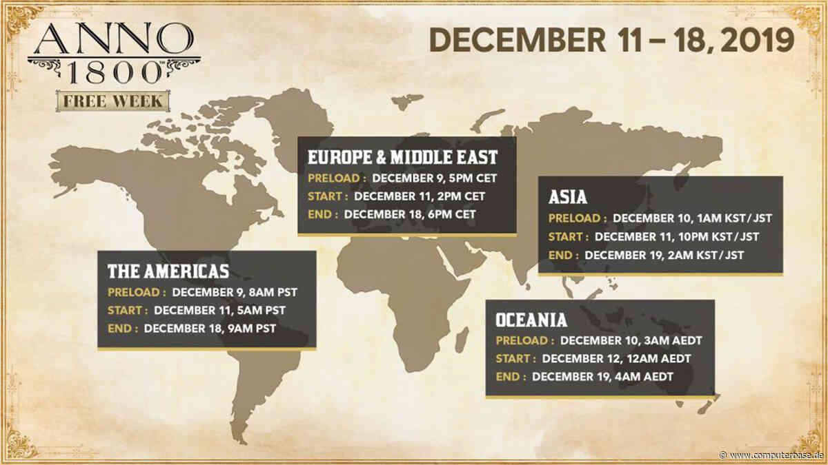 """Anno 1800 – """"Free Week"""": Kostenloses Wuseln vom 11. bis zum 18. Dezember [Notiz] (Update)"""