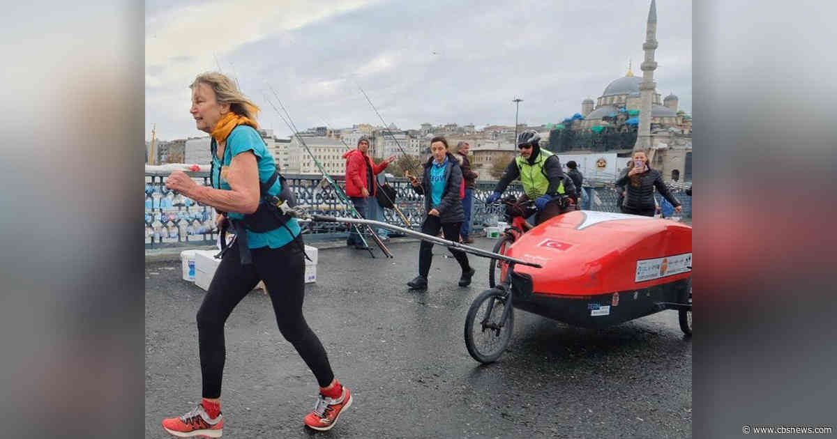 73-year-old woman is running from U.K to Nepal for charity