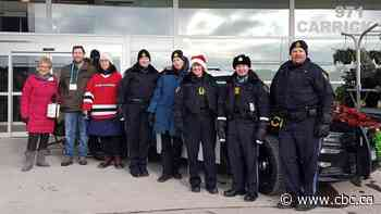 Northwestern Ontario law enforcement agencies stuff cruisers for local food banks